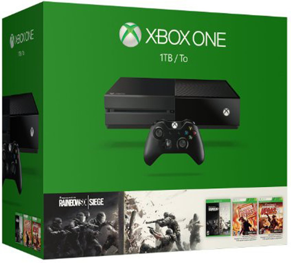 Xbox One 1TB USK 18 incl. Rainbow Six Siege & Vegas