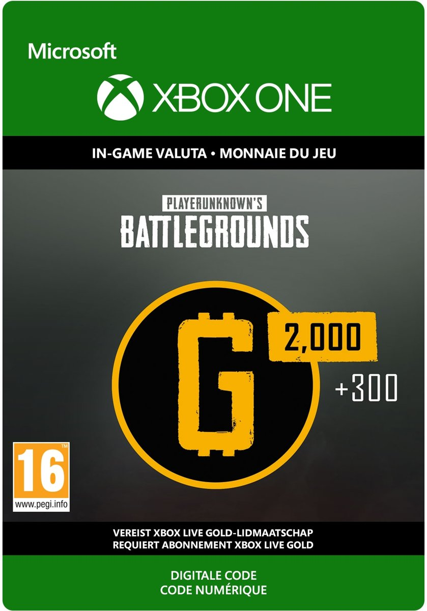 PlayerUnknowns Battlegrounds (PUBG) -  2.300 G-Coin - Xbox One Download