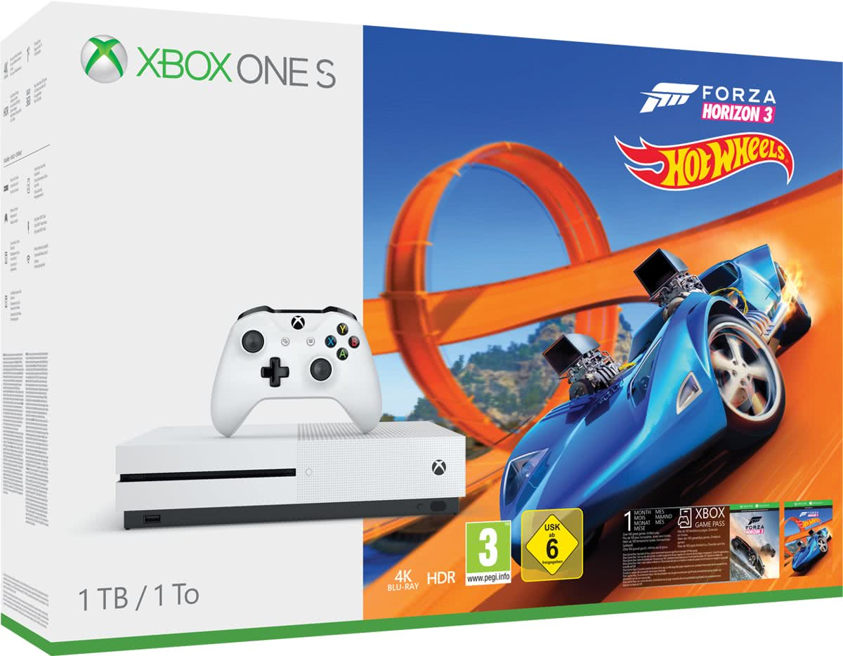 Xbox One S Forza Horizon 3 Hot Wheels console - 1 TB