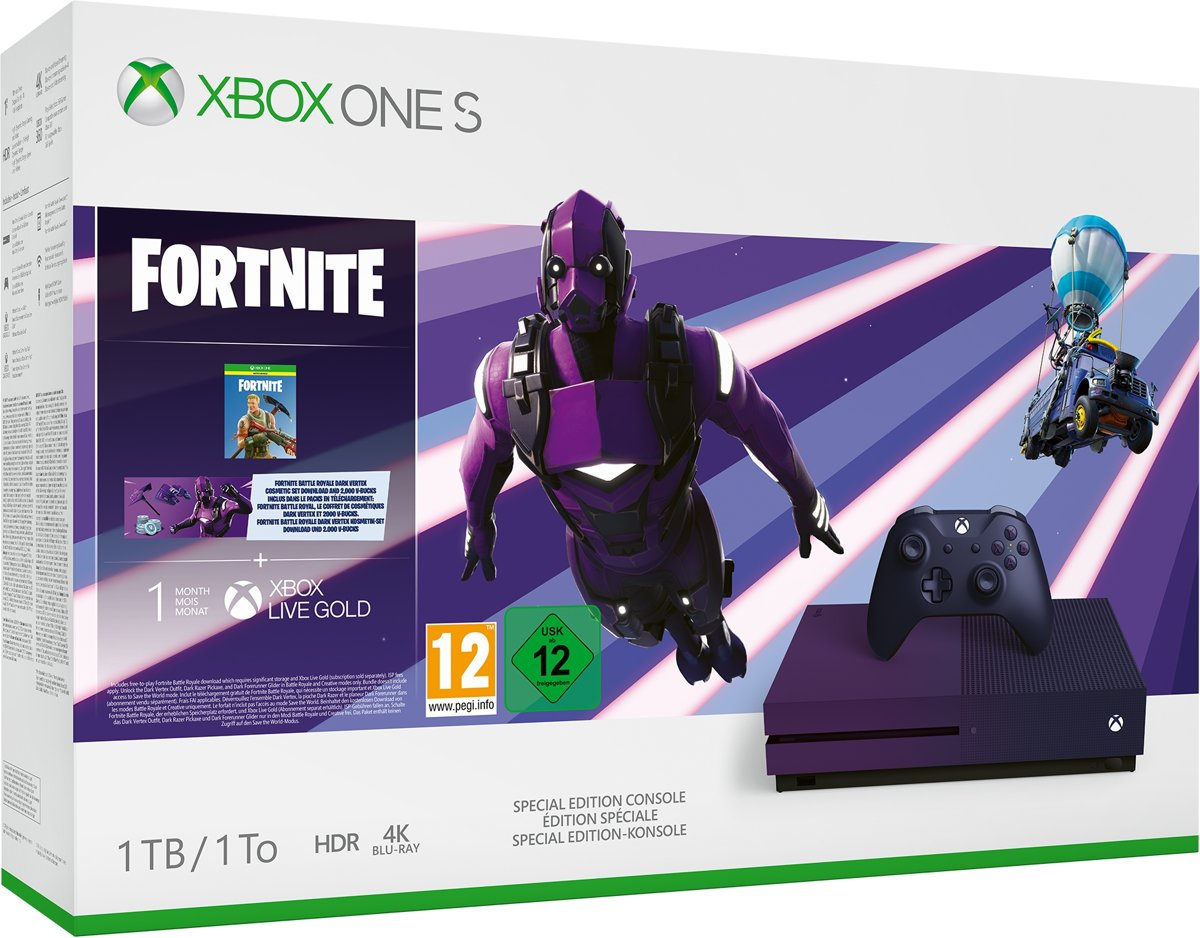Xbox One S console 1 TB (Special Fortnite Edition) - Fortnite Battle Royale