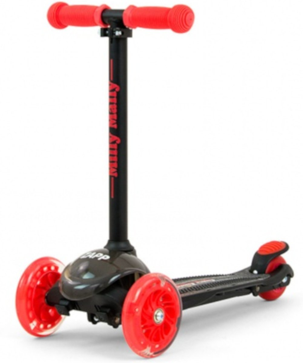Milly Mally Kinderstep Zapp Scooter Junior Zwart/rood