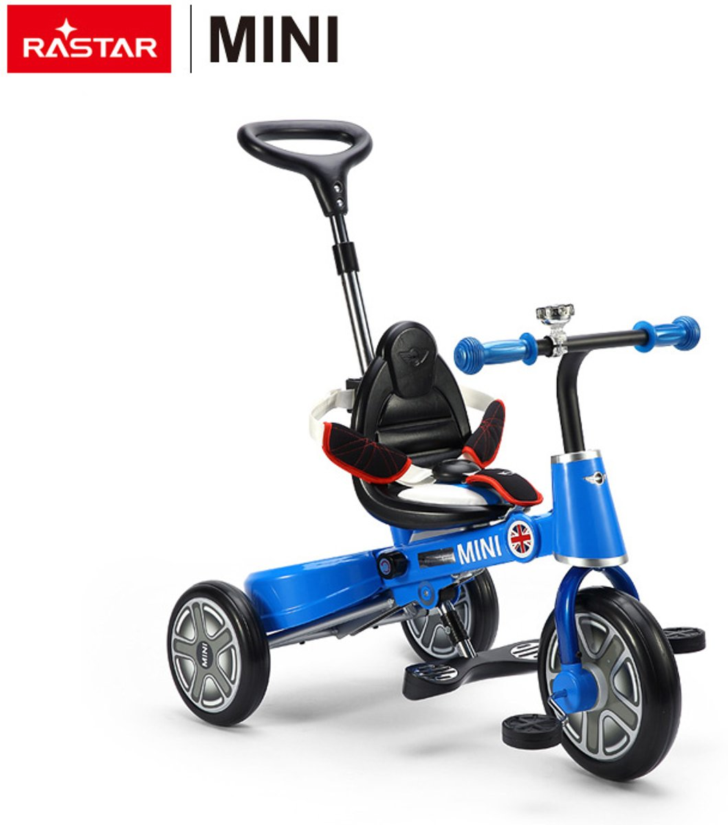 Luxury Mini Cooper licensed Rastar 3 Wheel Foldable Tricycle For children