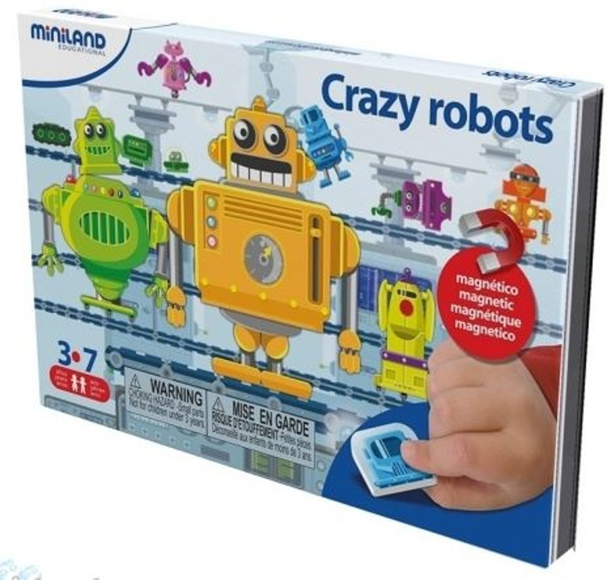 Taal: On The Go Magnetisch Spel Crazy Robots