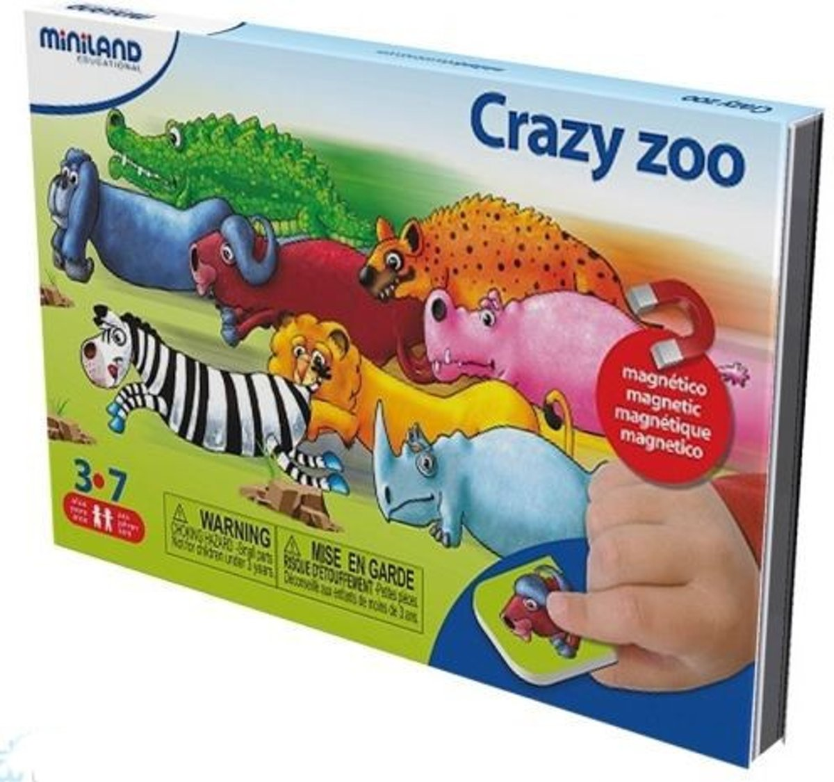 Taal: On The Go Magnetisch Spel Crazy Zoo