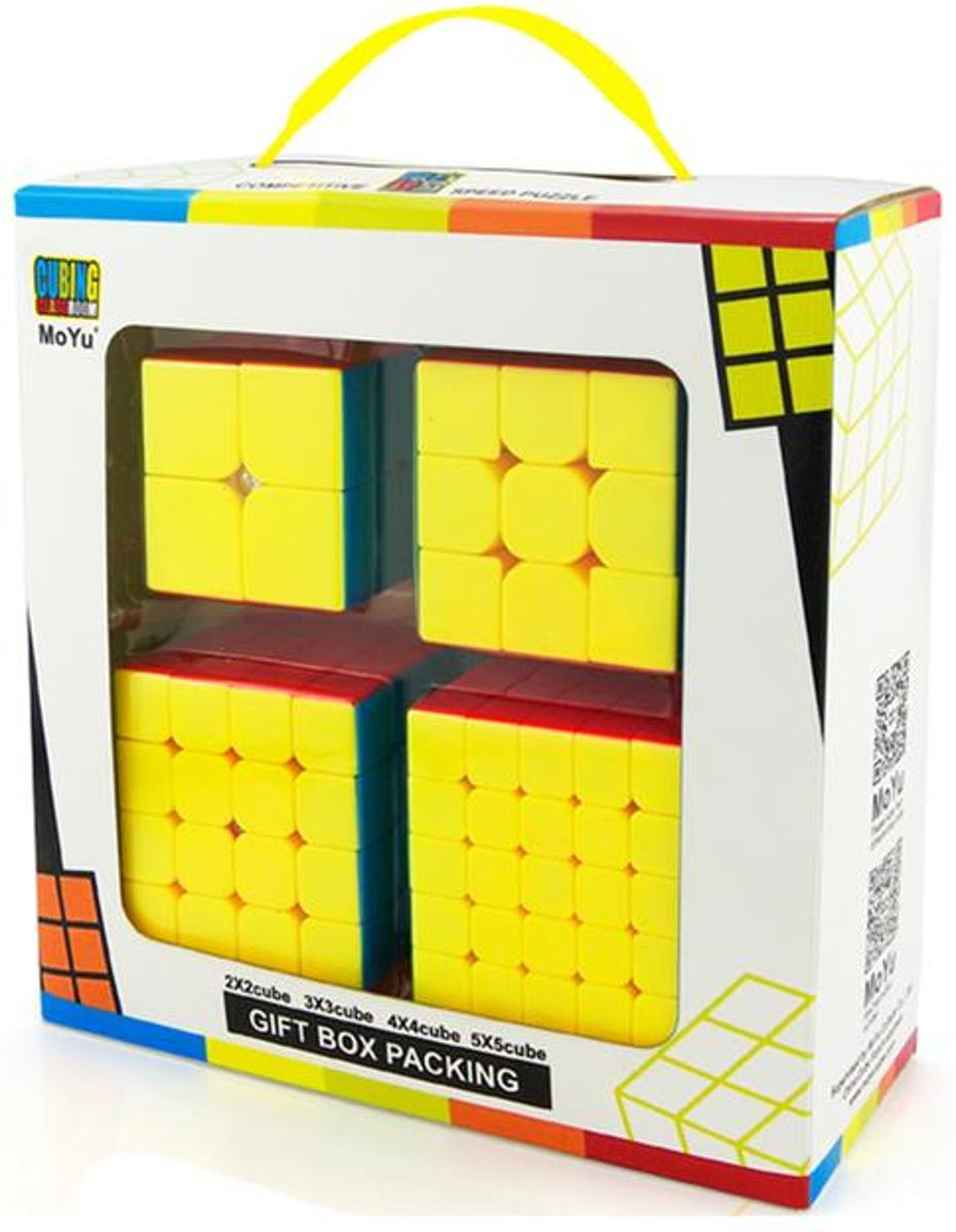 Speed Cube – 2x2, 3x3, 4x4, 5x5 – Rubik – 4 In 1 Kubus Bundel – Stickerless