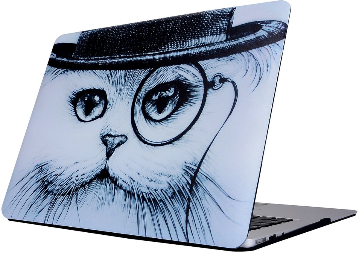 Mobigear Hard Case Cat Hat Apple MacBook 12 inch