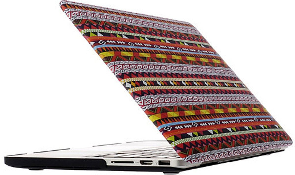 Mobigear Hard Case Frosted Aztec Tribal Tribe voor Apple MacBook Pro Retina 13 inch