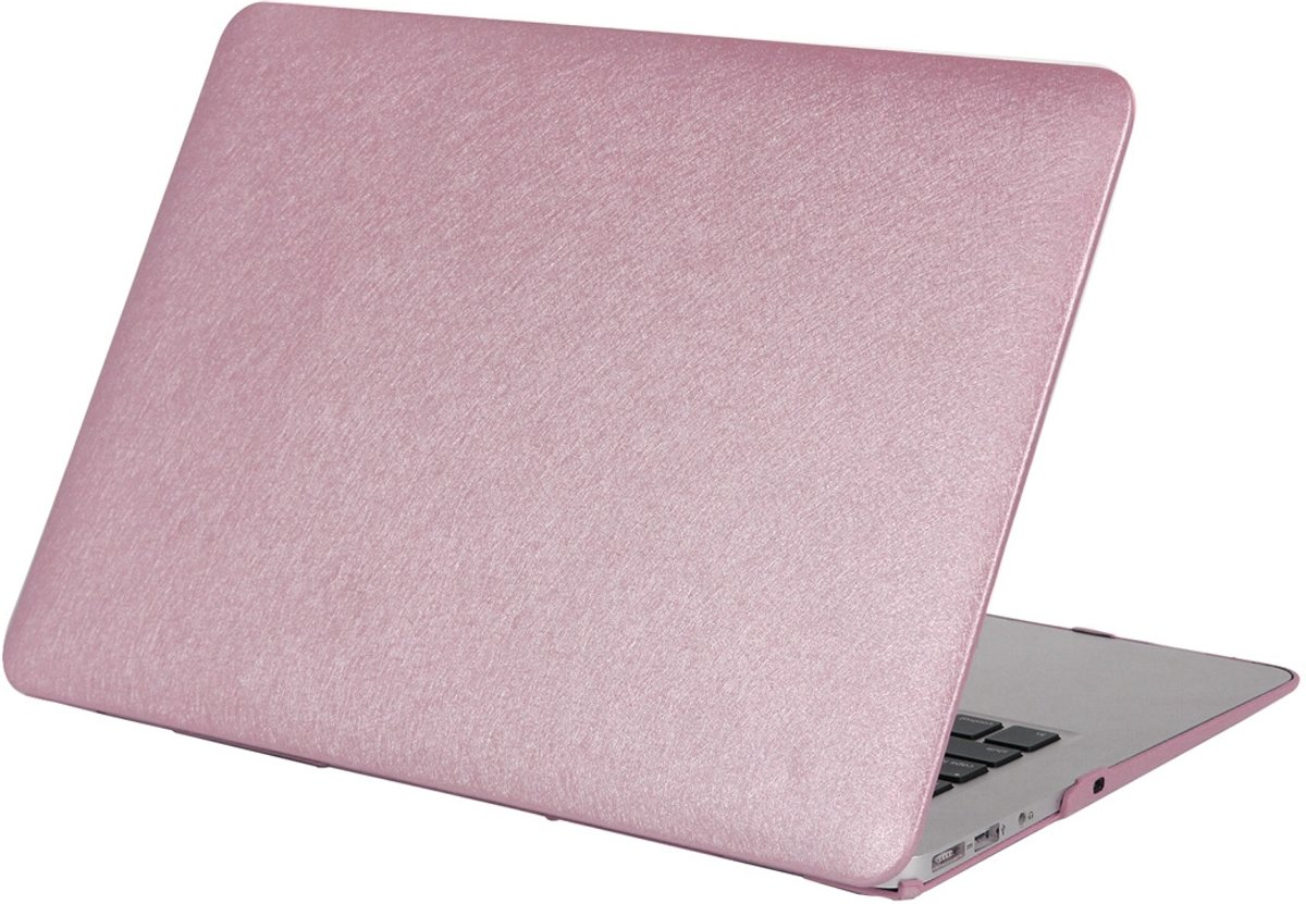 Mobigear Hard Case Silk Texture Paars voor Apple MacBook Air 13 inch