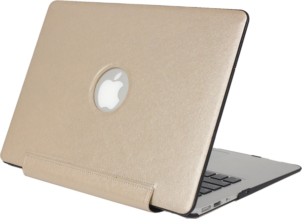 Mobigear Hard Case Silk Texture United Goud voor Apple MacBook Air 11 inch