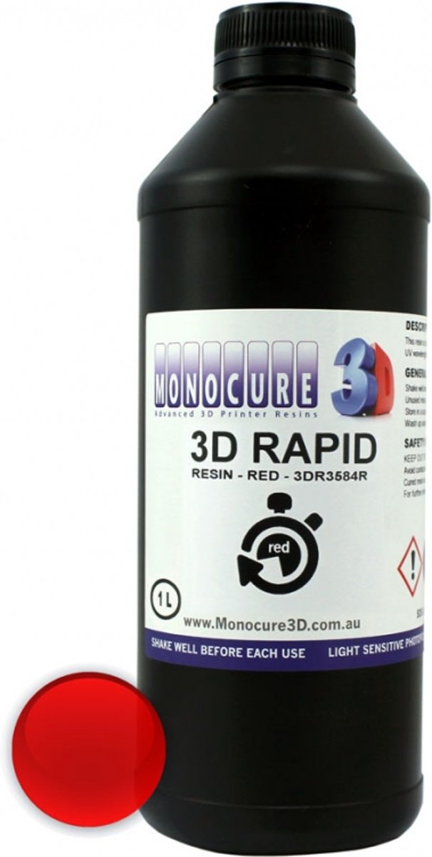 3D Rapid Resin -1000 Ml - Red