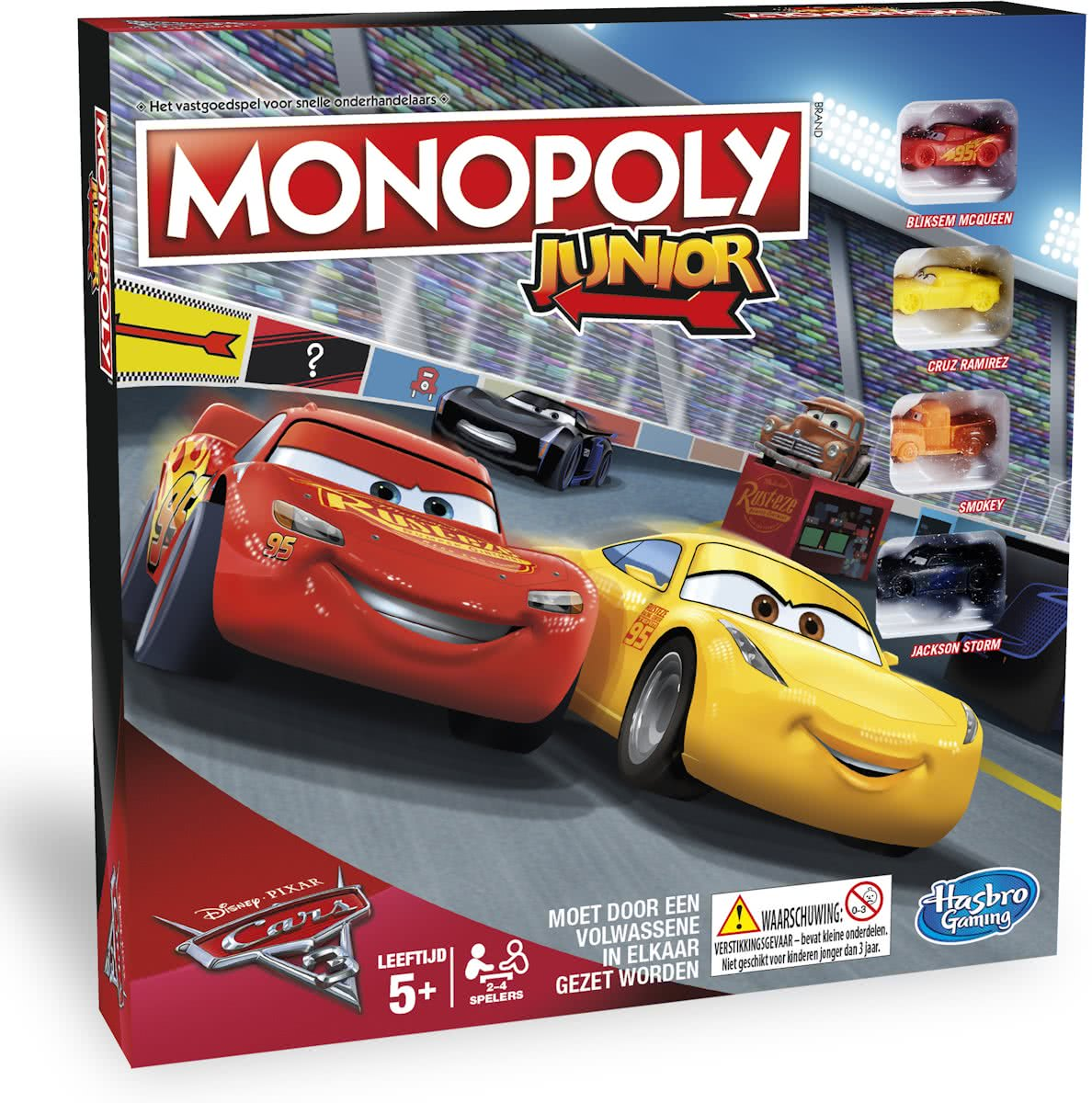 Monopoly Junior Cars 3 - Kinderspel