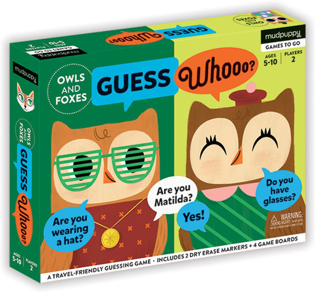 Mudpuppy Guessing Game - Owls & Foxes