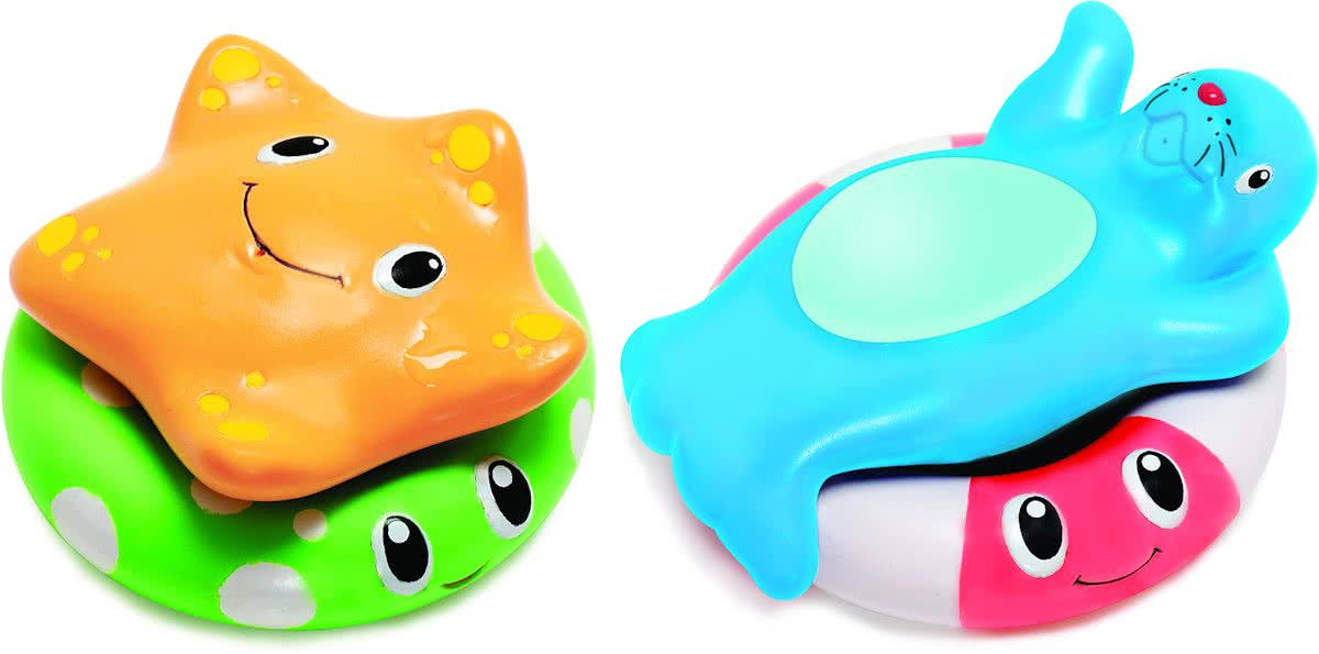 - Float and stack buddies/drijf en stapelmaatjes