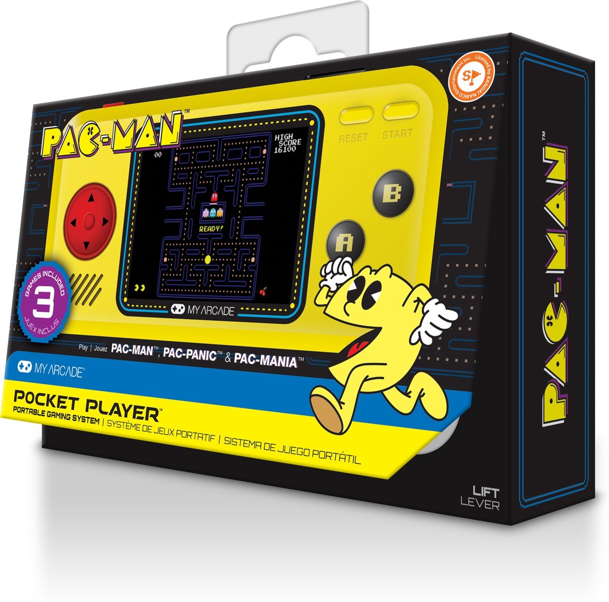PacMan 4 titles Handheld Console (Retro)