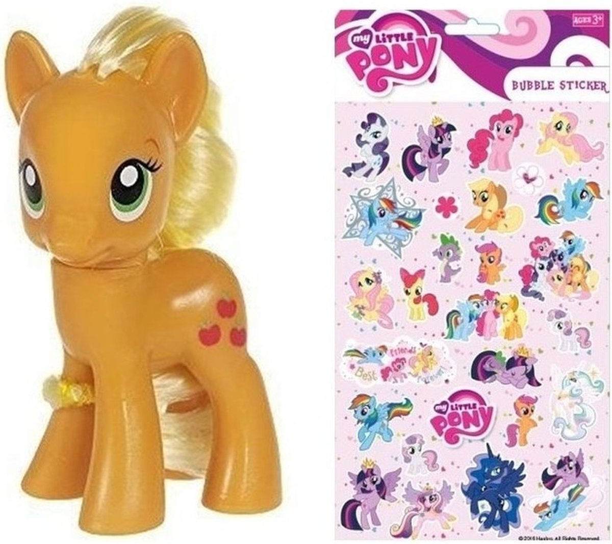My Little Pony speelfiguur Applejack 8 cm met stickers