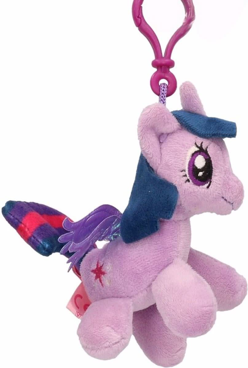 Pluche My Little Pony knuffel Twilight Sparkle paars 8 cm