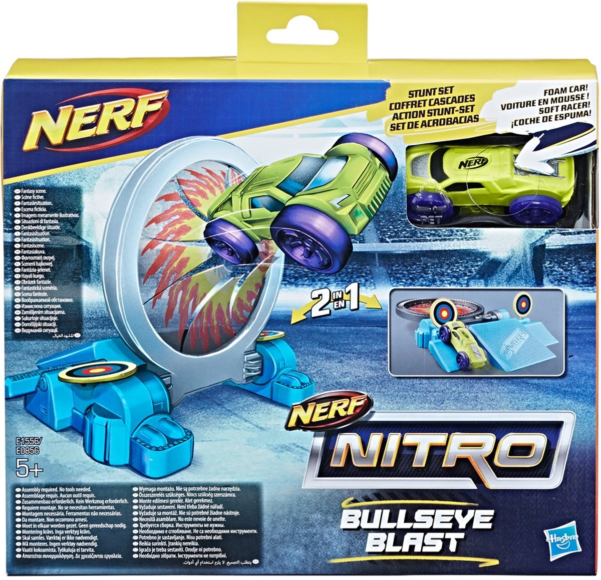 Nerf Nitro 2in1 Stuntsets met Foam Autos Assorti