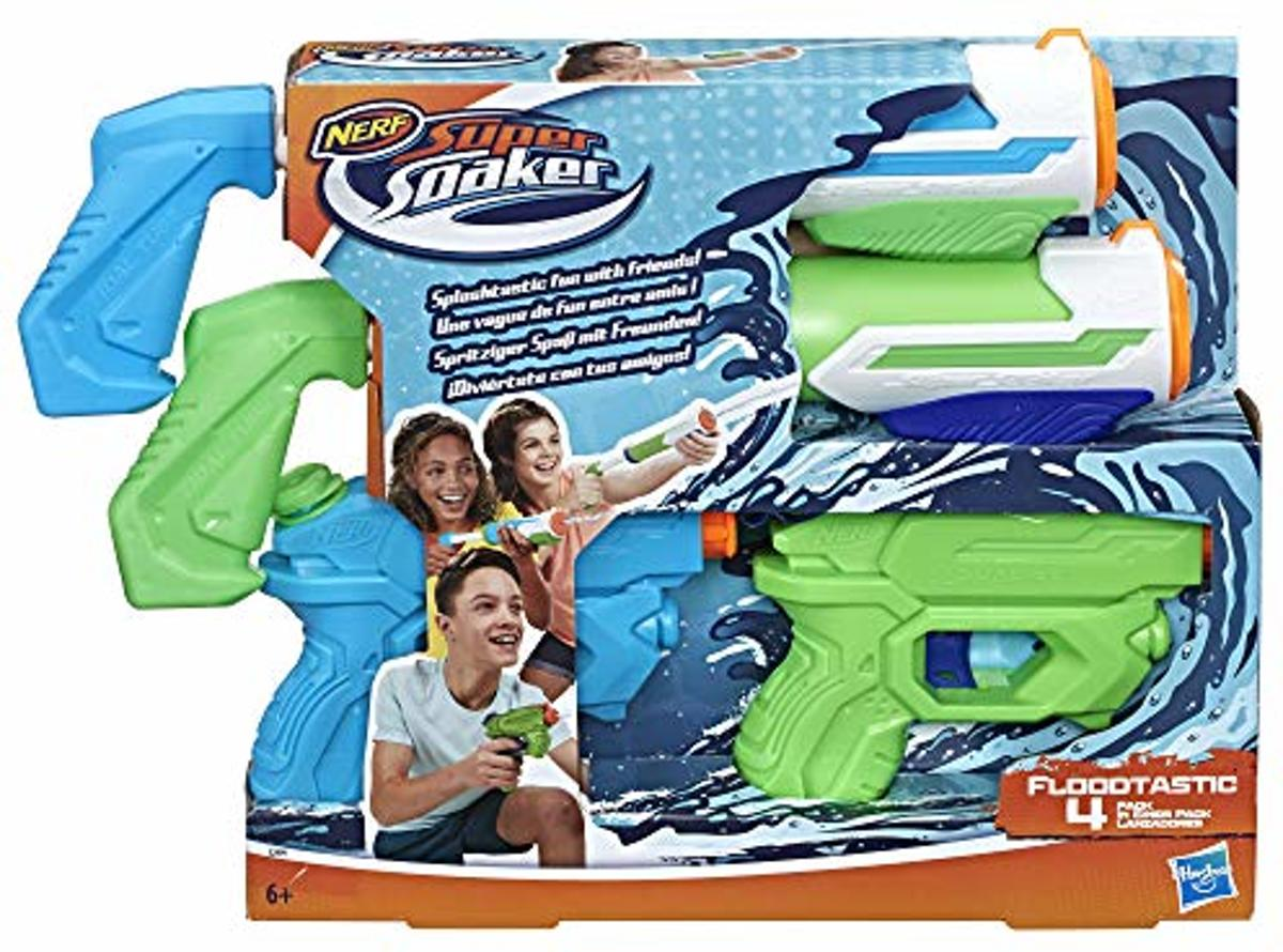 Nerf Super Soaker Floodtastic 4 Pack