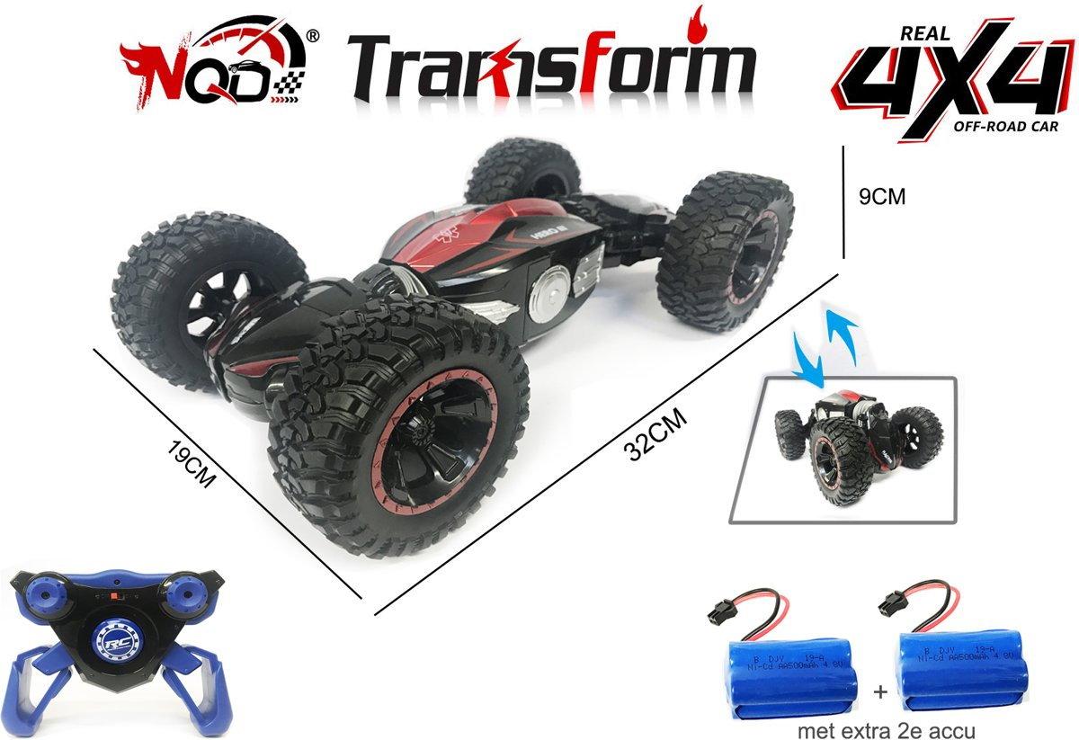 RC Car Truck Off-Road Monster Truck 4WD 1:14 auto - 32CM + Extra accu
