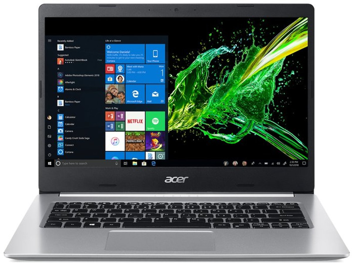 A514-52-39T8 - 14i FHD IPS ComfyView - Intel Core i3-8145U - 4GB DDR4 - 128GB PCIe NVMe SSD - Intel UHD Graphics 620 - Wi-Fi 5 - Win10Home in S-mode - QWERTY