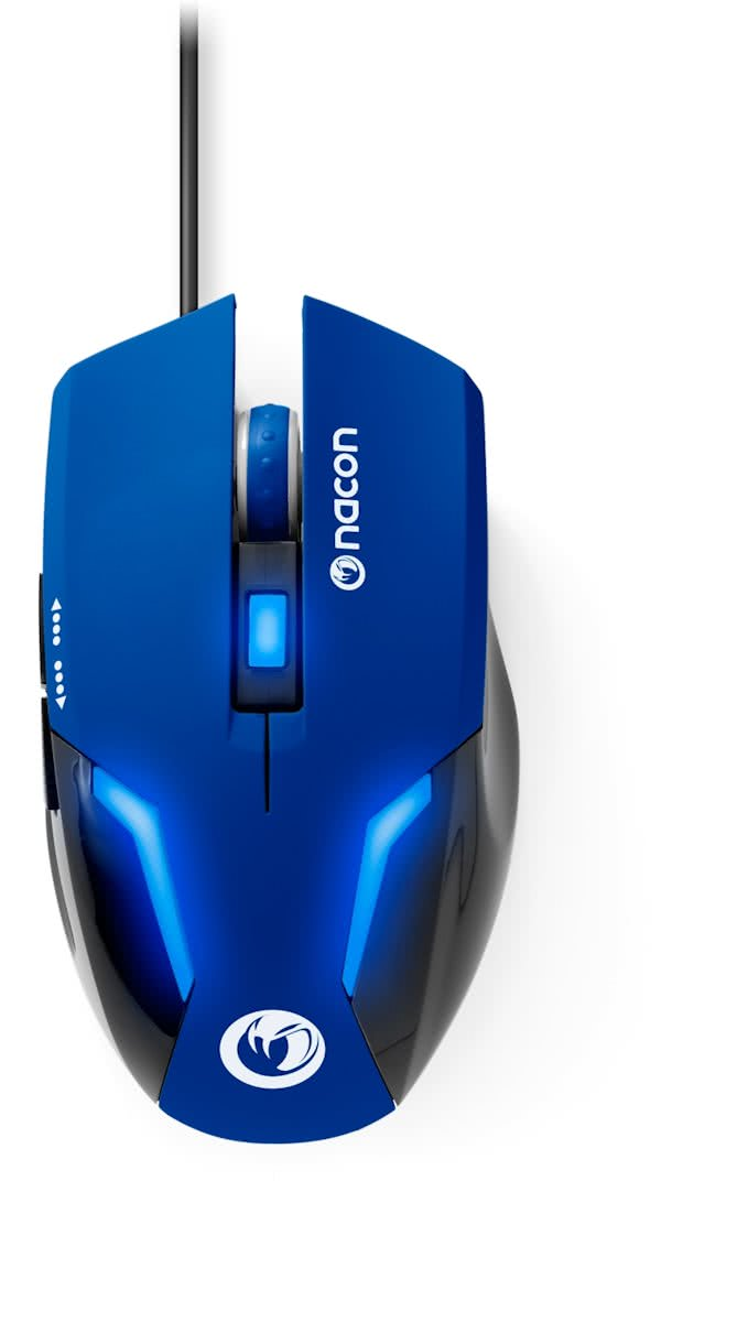 Nacon GM-105 Wired Gaming Muis - Blauw (PC)