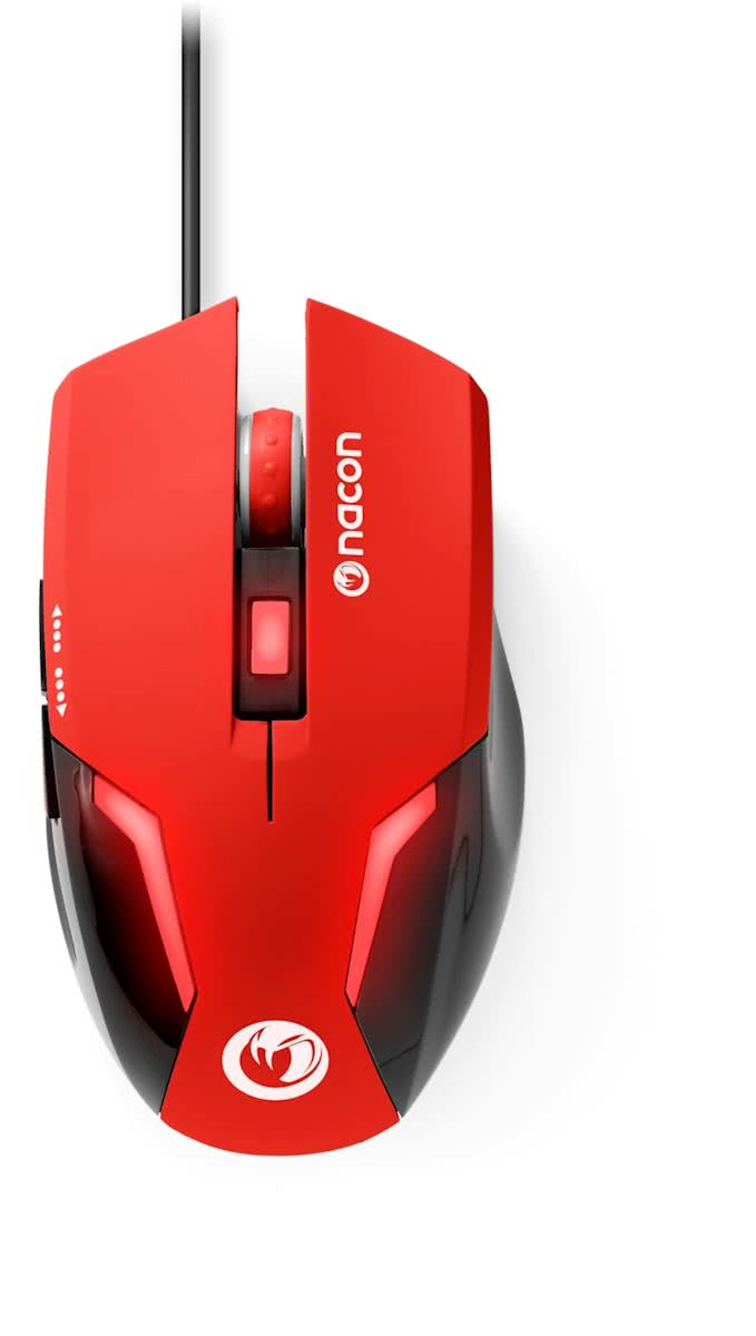 Nacon GM-105 Wired Gaming Muis - Rood (PC)