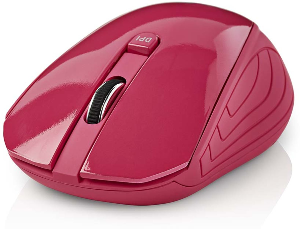 Wireless Mouse | 1000 DPI | 3-Button | Pink