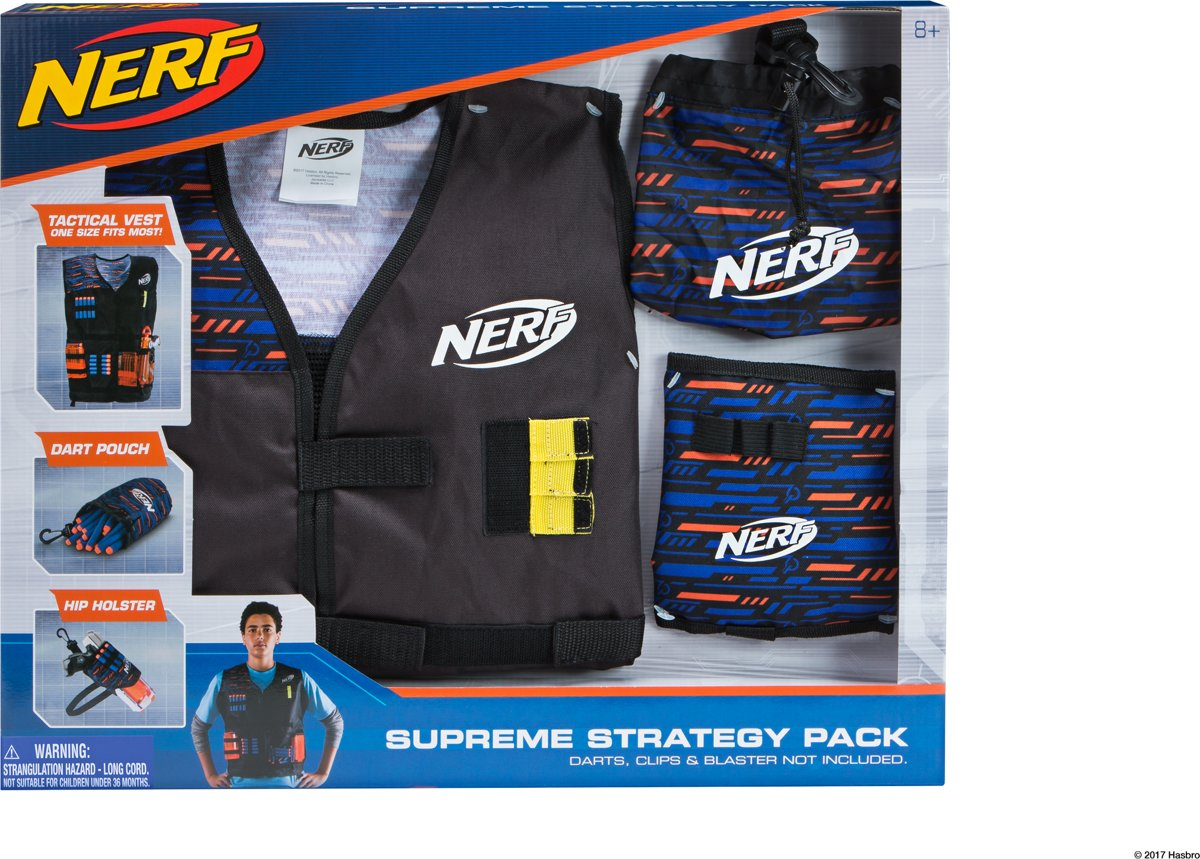 NERF ELITE Supreme Strategy Pack - Hip Holster + Dart Pouch + Vest