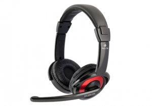 NGS - Stereo Headset USB - Zwart/Rood