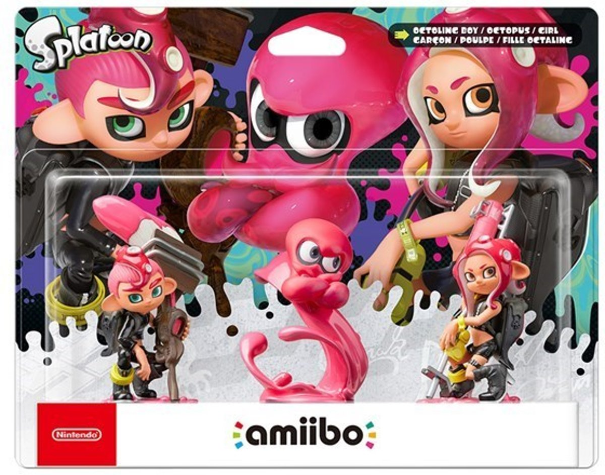Amiibo - Octoling Girl, Octoling Boy, Octoling Octopus - Splatoon