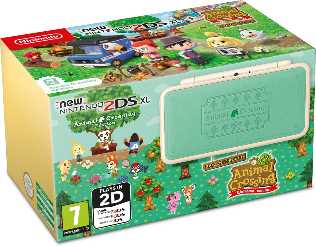 New   2DS XL, Console (Animal Crossing Edition)