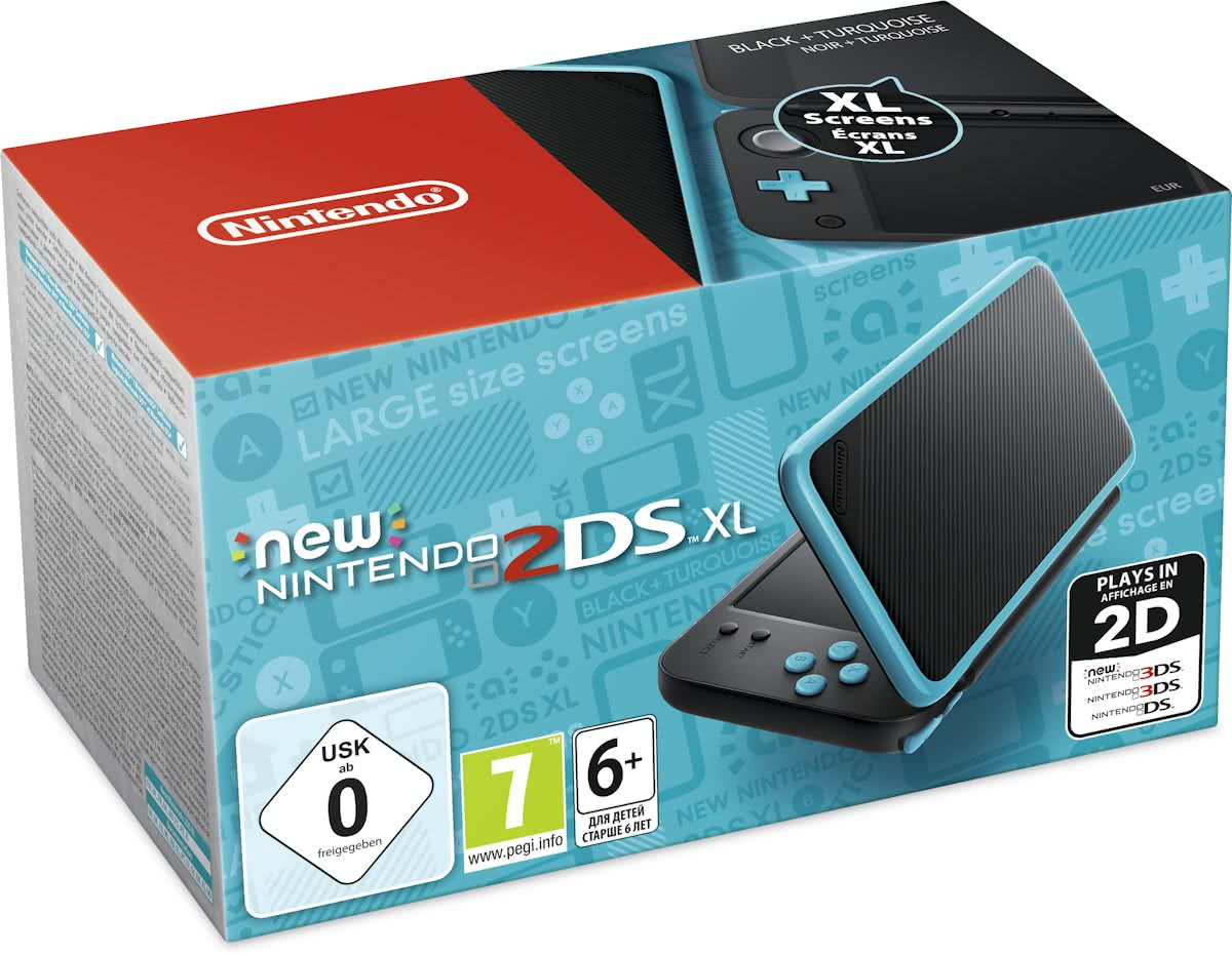 New   2DS XL Console - Zwart/Turquoise