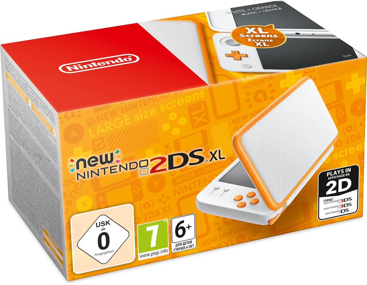 New   2DS XL console - Wit/Oranje