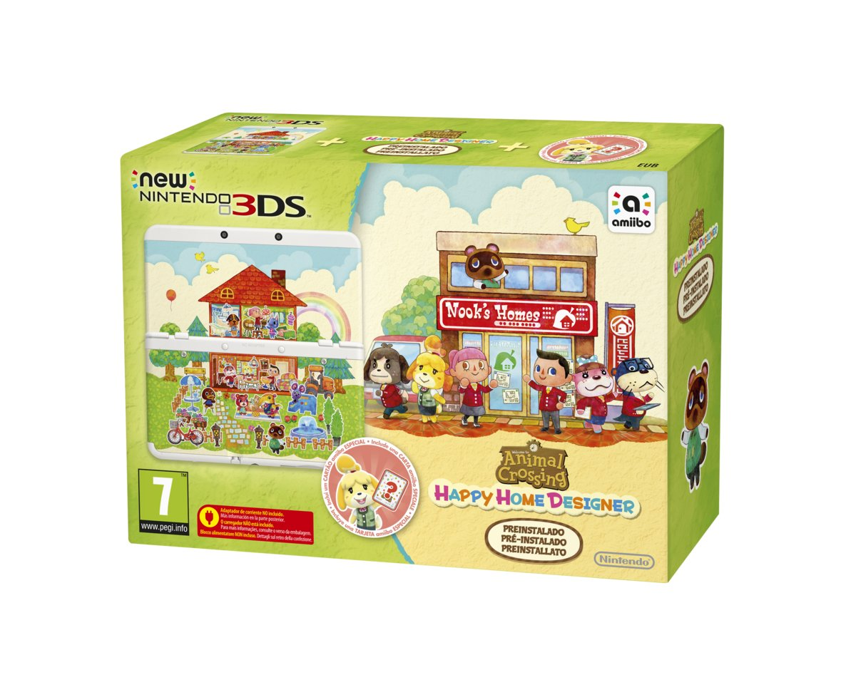 New   3DS Animal Crossing Happy Home Designer Console - Wit