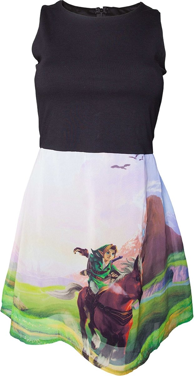 - Zelda Ocarina Of Time mouwloze jurk met print zwart/multicolours - XL - Games merchandise