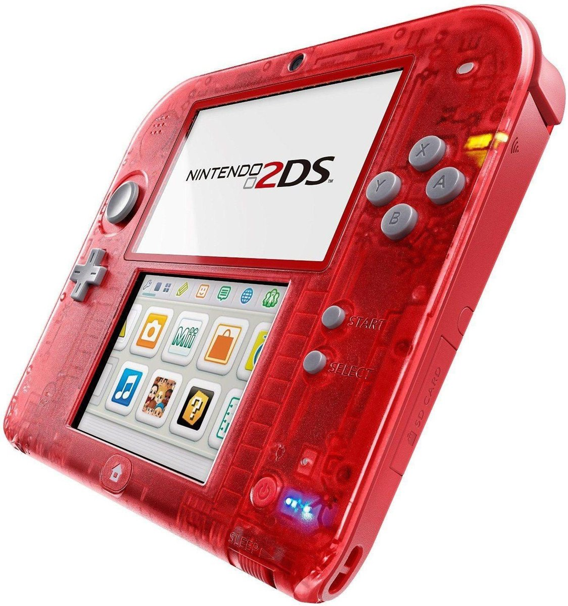 2DS Handheld Console - Transparant Rood