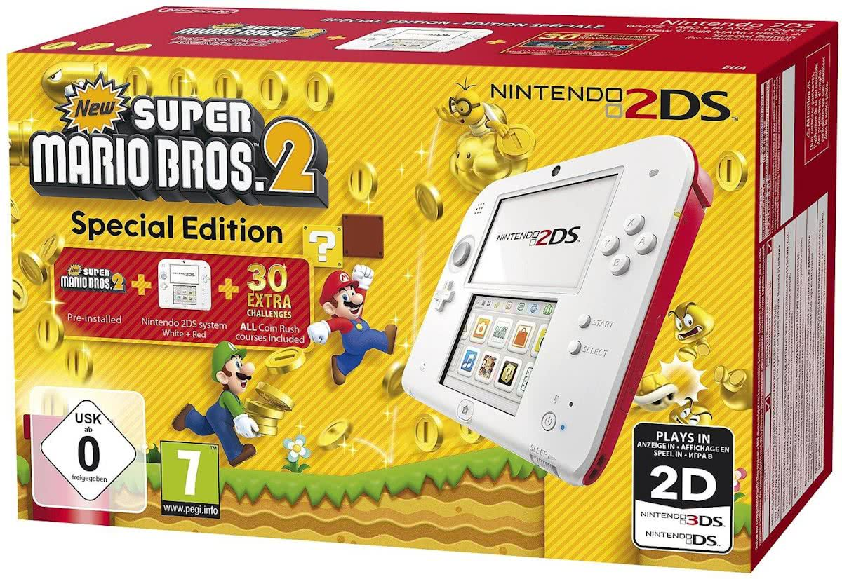2DS New Super Mario Bros. 2 Console - Limited Edition - Wit/Rood