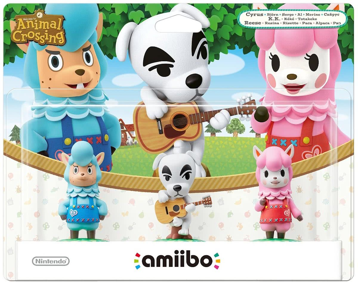 Amiibo Animal Crossing 3-delige set (K.K., Rosina, B) - 3DS - Wii U - Switch