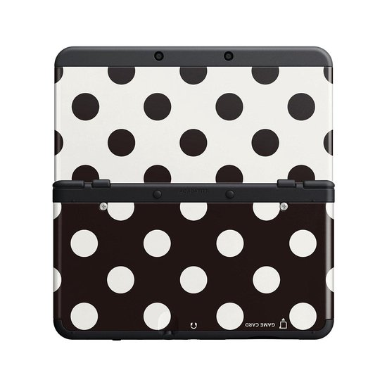 New 3DS Cover 015 stippen zwart/wit