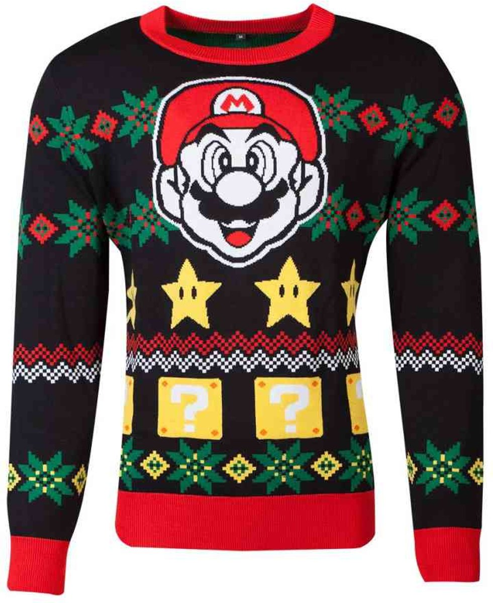 Super Mario Kersttrui -M- Christmas Multicolours