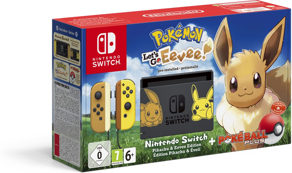 Switch Console - Pokémon Lets Go, Eevee! Bundel