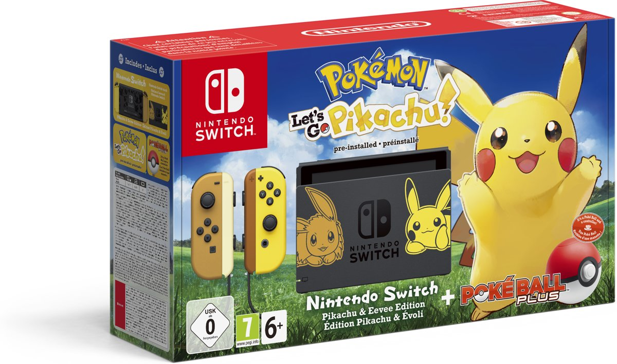 Switch Console - Pokémon Lets Go, Pikachu! Bundel