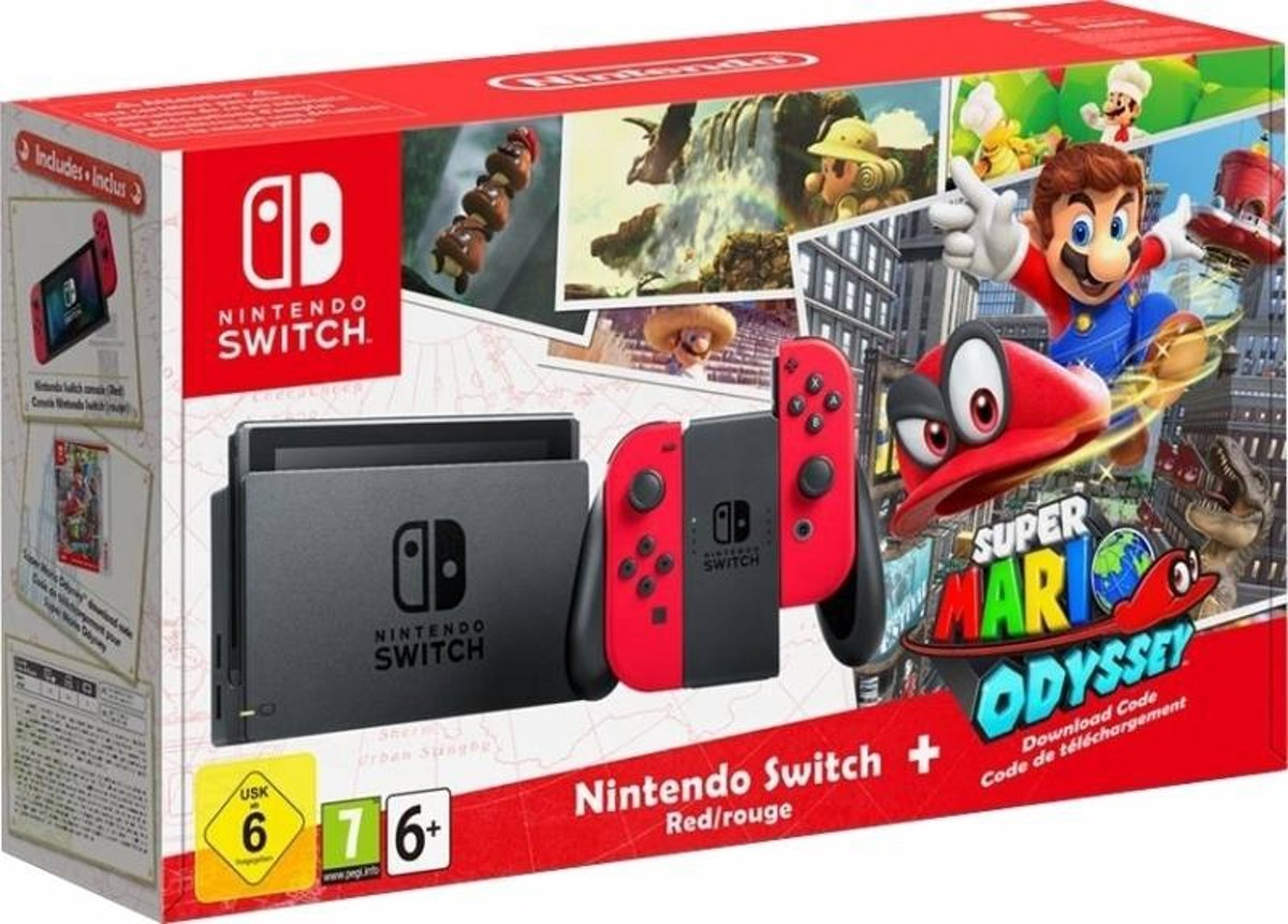 Switch Super Mario Odyssey Console - 32GB - Rood