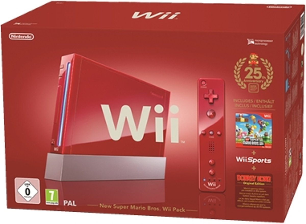 Wii Rood + New Super Mario - 25th Anniversary Edition