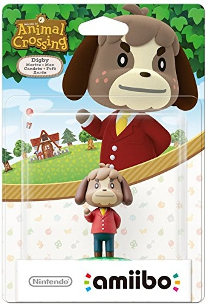 amiibo Animal Crossing Figuur Digby - Wii U + NEW 3DS