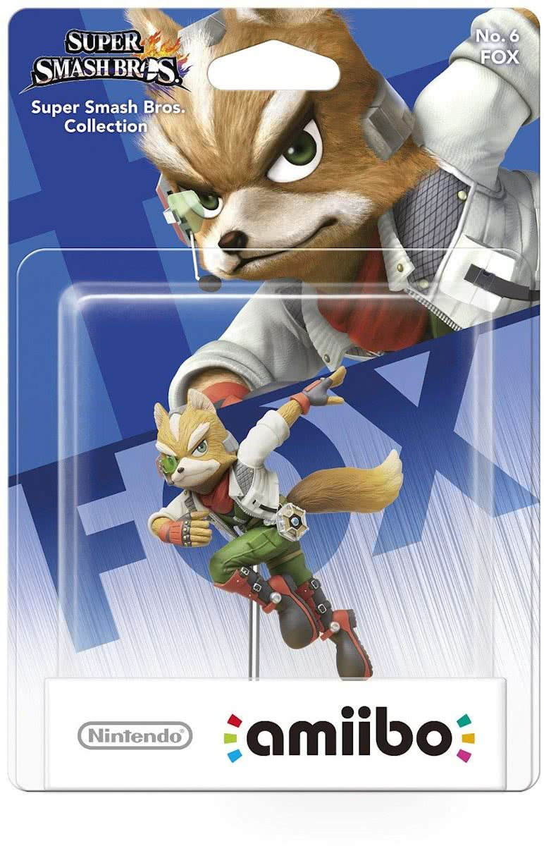 amiibo Super Smash Figuur Fox - Wii U - NEW 3DS - Switch