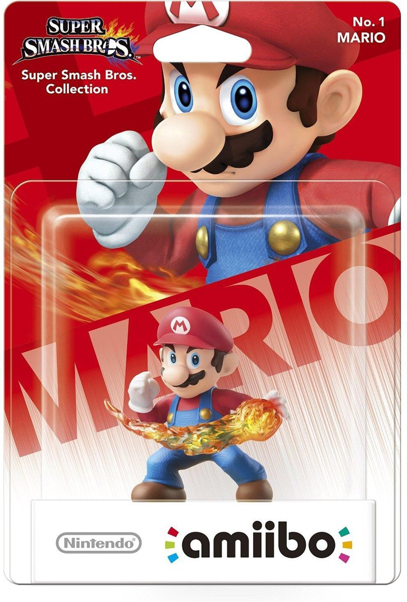 amiibo Super Smash Figuur Mario - Wii U + NEW 3DS