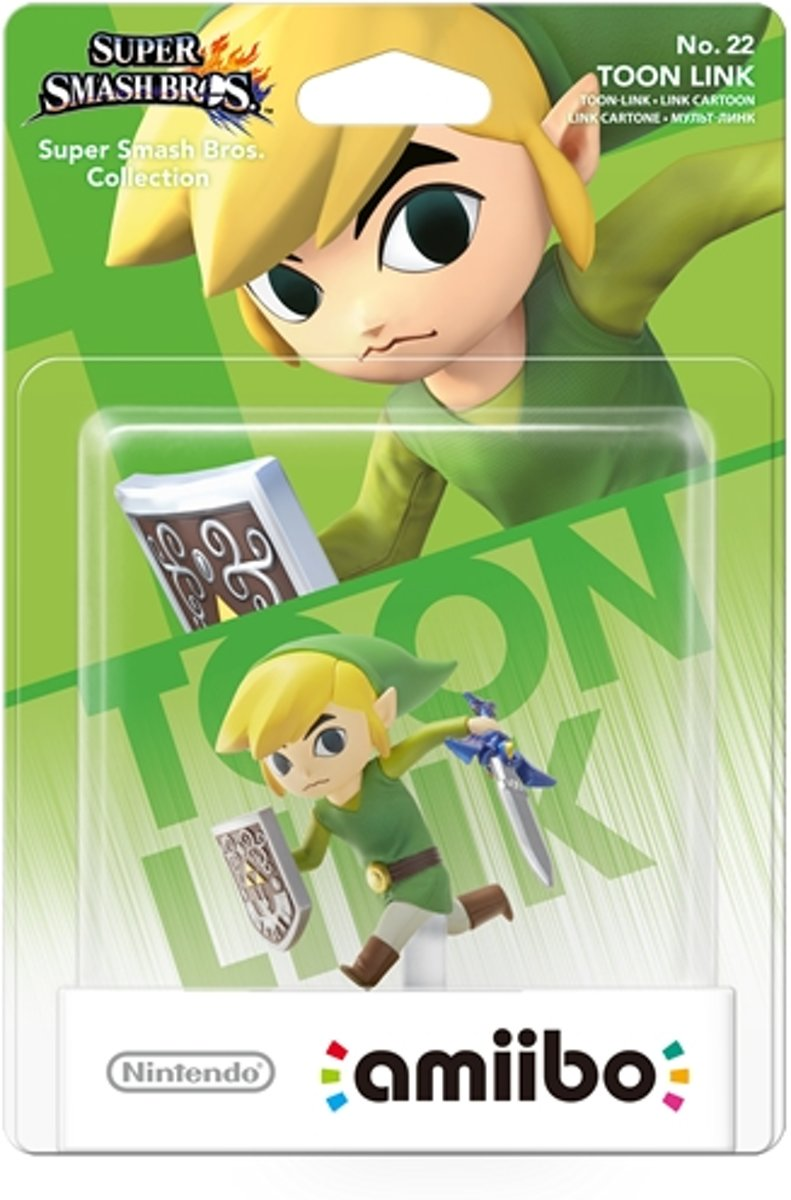 amiibo Super Smash Figuur Toon Link - Wii U + NEW 3DS
