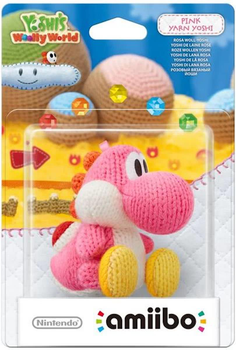 amiibo Yoshis Wooly World Collection - Yoshi (Roze) - 3DS + Wii U + Switch