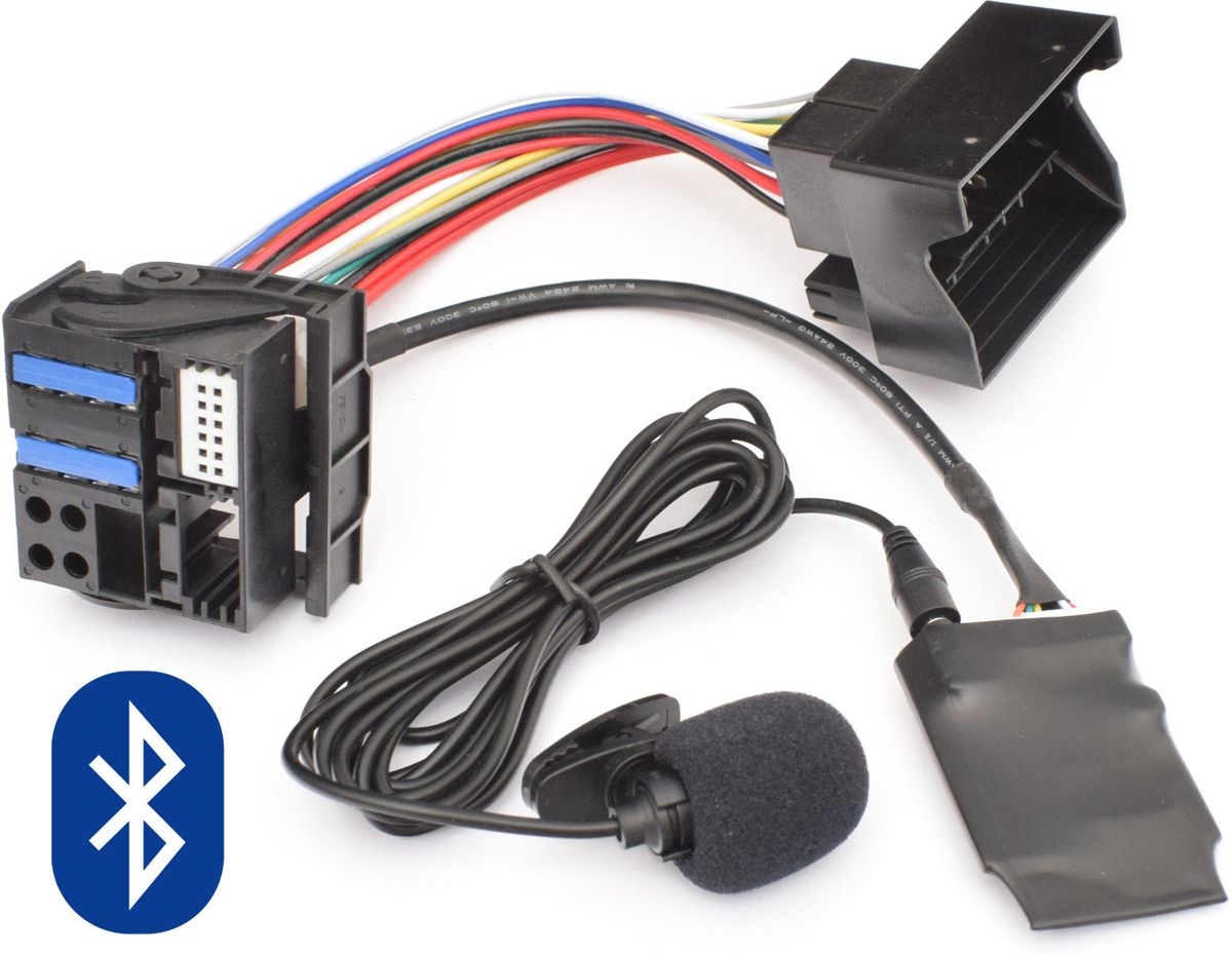 Mini Cooper One Cooper S Works Cabrio Bluetooth Audio AD2P Streaming module Carkit Microfoon Bellen Vlakke pin R50 R52 R53